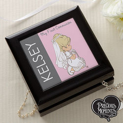 Personalized Precious Moments First Communion Memory Box