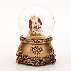 Kneeling Santa Musical Glitterdome