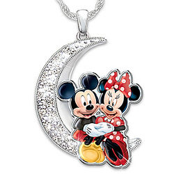 I Love You to the Moon and Back Mickey and Minnie Mouse Pendant
