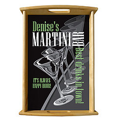 Personalized Martini Parade Serving Tray