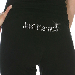 Just Married Sweatpants with Swarovski Crystals