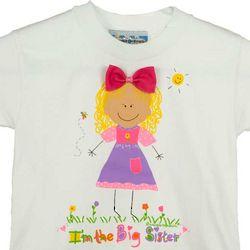 Blonde Hair Big Sister T-Shirt