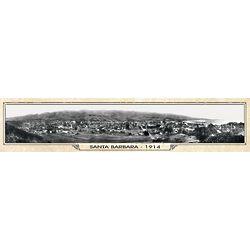 Vintage Santa Barbara Panorama Metal Print