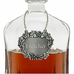 Personalized Pewter Decanter Tag