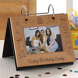 Happy Birthday Personalized Flip Photo Album