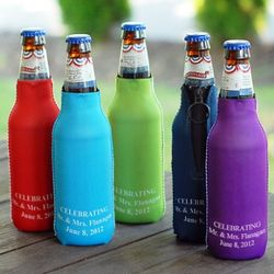 Personalized Zipper Bottle Huggers