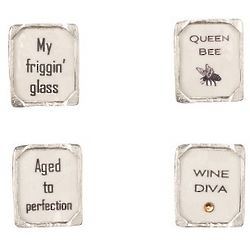 Handcrafted Pewter Wine Charms