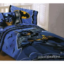 Shades of Blue Batman Twin Sheet Set
