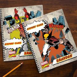 Personalized Marvel Superhero Notebooks