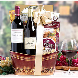 California Red and White Wine Duet Gift Basket