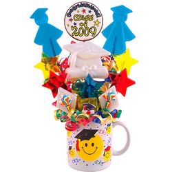 Hats Off Graduation Themed Lollipops in Mug