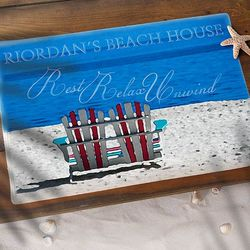 Rest Relax and Unwind Personalized Doormat