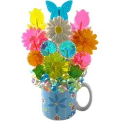 Mug of Lollipop Flowers