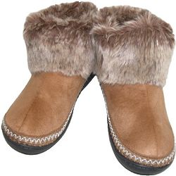 Women's Woodlands Microsuede Fur Boot Slippers
