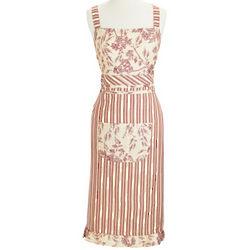 Red Ticking Stripe Vintage-Inspired Apron