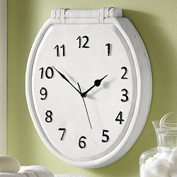 Toilet Seat Wall Clock