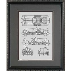 Rolls Royce Framed 11x14 Blueprint