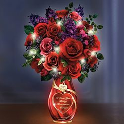 Endless Romance Roses Personalized Lighted Table Centerpiece