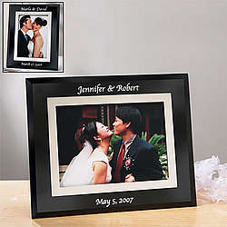 Black Glass Wedding Frame