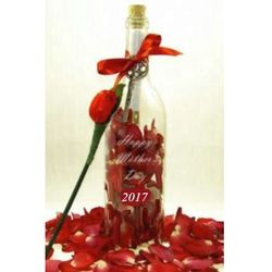 Engraved Mother's Day 2017 Edition Message in A Bottle