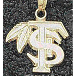 Florida State Seminoles Solid 14K Gold FS with Feather