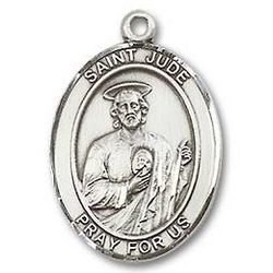 Sterling Silver St. Jude Medal with Chain