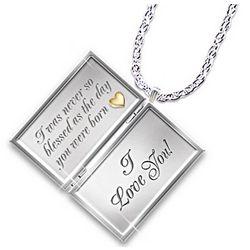 Niece Diamond Pendant Locket Necklace