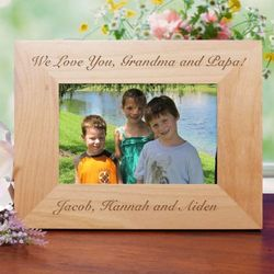 Engraved Wood Custom Message Picture Frame