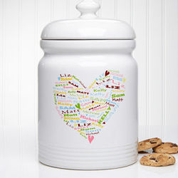 Personalized Her Heart Of Love Cookie Jar
