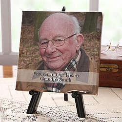 Forever in Our Hearts Personalized Memorial Photo Canvas Art