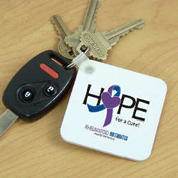Hope For a Cure Rheumatoid Arthritis Awareness Key Chain