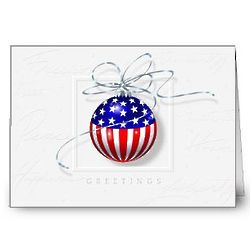 Patriotic Ornament Holiday Cards