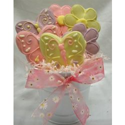 Butterflies and Flowers Cookie Bouquet