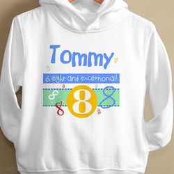 What's Your Number Toddler Hooded Sweatshirt