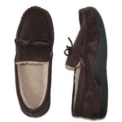 Men's Microsuede Boater Moccasin Slippers