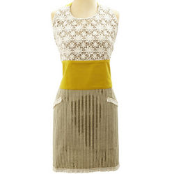 Yellow Natural Lace Vintage-Inspired Apron
