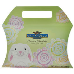 Bunny Flowers Square Chocolates in Pillow Pouch