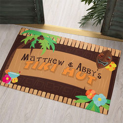 Personalized Tropical Paradise Doormat