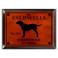 Personalized Labrador Cabin Series Traditional Sign