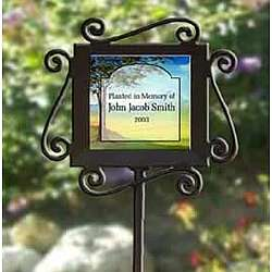 Personalized Ceramic and Iron Garden Stake