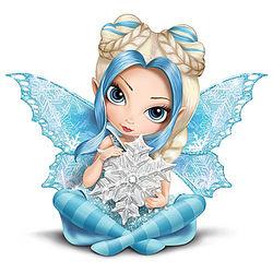 Jasmine Becket Griffith Snow Fairy Figurine with Snowflake