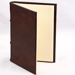 Lined Italian Leather JournalS and Guest Books