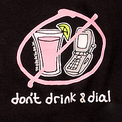 "Women's ""Don't Drink & Dial"" Long Sleeved Tee"