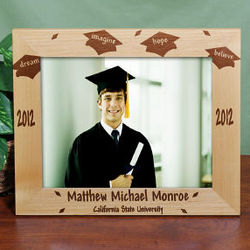 Engraved Dream Graduation Frame