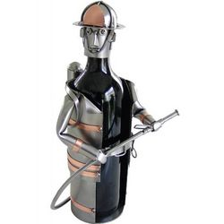 Fireman Wine Bottle Holder
