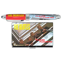 Beatles Please Please Me Rollerball & Card Case Set
