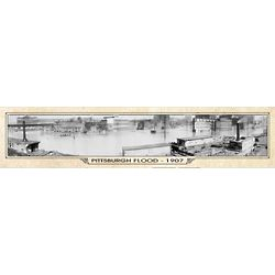 Pittsburgh Flood Vintage Panorama Metal Print