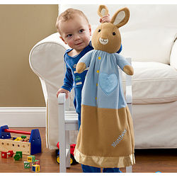 Personalized Peter Rabbit Stuffed Animal Blanket