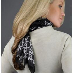 Pure Silk Chain Print Scarf