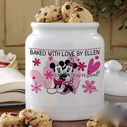 Personalized You're Sweet Mickey and Minnie Mouse Cookie Jar